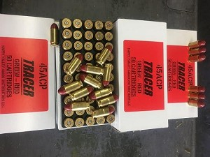 Tracers .45 ACP - Green to Red 50rd. Box